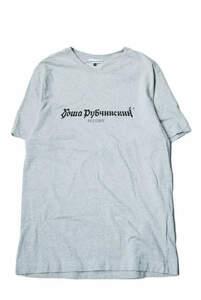 Gosha Rubchinskiy ゴーシャラブチンスキー 17AW LOGO T-Shirt ロゴプリントクルーネックTシャツ G011-T001 L グレー 半袖 トップス mm7191