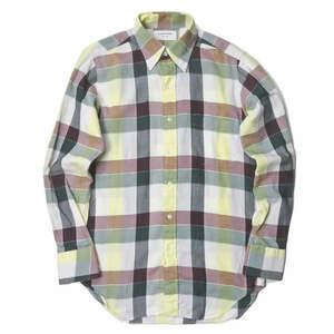 THOM BROWNE トムブラウン アメリカ製 ブロックチェック コットンツイルBDシャツ 1 マルチカラー 長袖 ボタンダウン トップス j3694