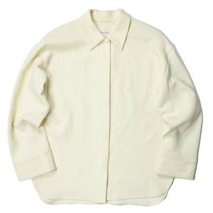 Demi-Luxe BEAMS デミルクス ビームス 19AW 日本製 ウールオーバーシャツ 68-11-0294-594 38 ベージュ 長袖 比翼 トップス lc31102