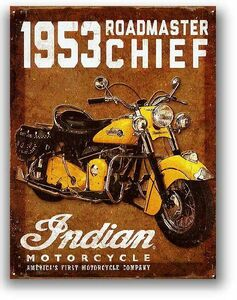 インディアンモーターサイクル 1953 ロードマスター レトロ調 アメリカンブリキ看板 アメリカ 雑貨 アメリカン雑貨