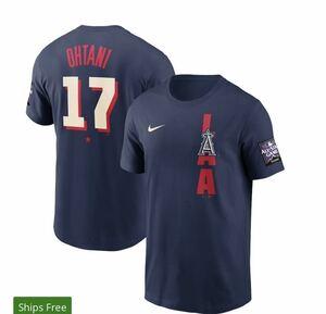 ★即発送可能★メンズ ロサンゼルスエンゼルス 大谷翔平 ナイキ ネイビー 2021 MLB オールスターゲーム Tシャツ Mサイズ
