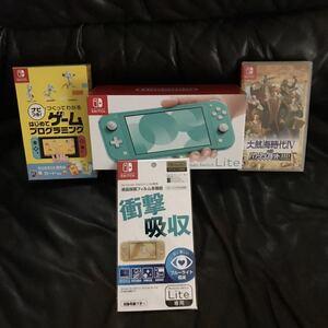 【1円スタート・ 新品未使用・返品可】Nintendo Switch Lite 本体 (ニンテンドースイッチライト)+ソフト2本+液晶保護フィルム