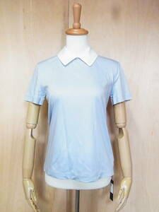 未使用 FOXEY フォクシー 19年製 滝沢眞規子さん 2WAY ファスナー付き 半袖Tシャツ カットソー サイズ38