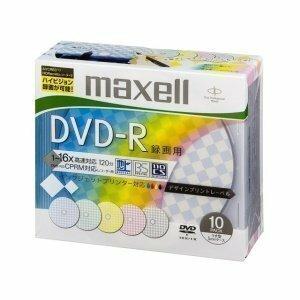 デザインプリント 10枚 maxell 録画用 CPRM対応 DVD-R 120分 16倍速対応 インクジェットプリンタ対応デザ