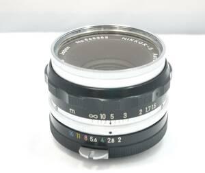 ■ジャンク■Nikon ニコン NIKKOR-S Auto F2 5cm レンズ 一眼カメラ用 マニュアルフォーカス 210913f