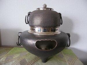 純銀茶釜 約5.4㎏ 木箱 中古