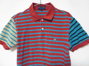 PEARLYGATESパーリーゲイツ マルチボーダー柄 ポロシャツ1