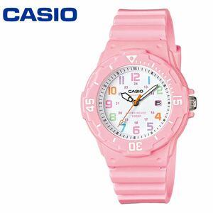 カシオ ダイバー CASIO LRW-200H-4B2 チープカシオ ピンクマルチカラー 子供 腕時計 レディース キッズ 男の子 女の子 カレンダー アナログ