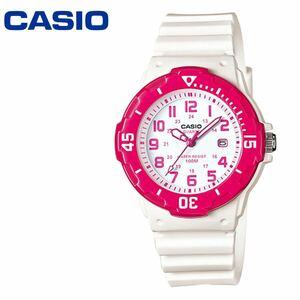 カシオ ダイバー CASIO LRW-200H-4B チープカシオ ホワイト ピンク 白 子供 腕時計 レディース キッズ 男の子 女の子 カレンダー アナログ
