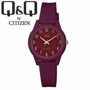 CITIZEN Q&Q シチズン 腕時計 VS13J007Y ボルドー アナログ チープシチズン レディース キッズ 女性 子供 防水 国産ムーブメント