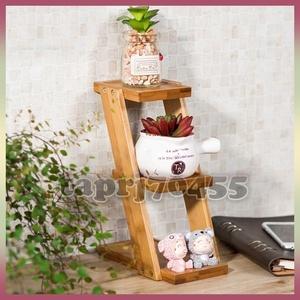 △3段☆プランタースタンド♪花 ガーデニング 観葉植物 多肉植物 植木鉢 花瓶 フラワーポット 台 ホルダー 木材 ウッド インテリア
