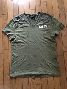G-STAR RAW 半袖Tシャツ カーキ L