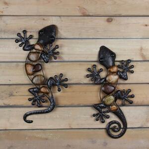 壁掛けにも☆トカゲ ヤモリの置物 オブジェ インテリア ミニチュア 彫刻【LH04135 ヤモリの置物×1個】