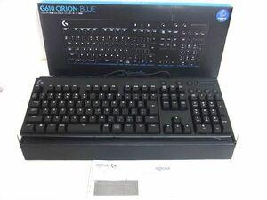 展示品 Logicool G ロジクール G ゲーミングキーボード 有線 G610BL 日本語配列 青軸 メカニカル キーボード