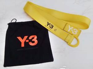 Y-3 ワイスリー ベルト adidas ×YOHJI YAMAMOTO ヨウジヤマモト ロゴ刺繍 Dリング イエロー メンズ レディース