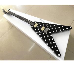 シグネチャー エレクトリックギター 水玉 フライングV ランディ・ローズモデル エレキギター