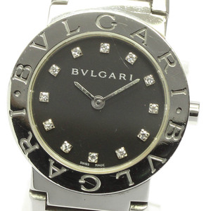 【BVLGARI】ブルガリ ブルガリブルガリ BB26SS 12P ダイヤインデックス クォーツ レディース