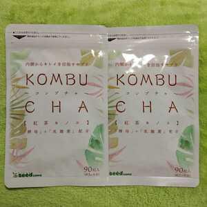 コンブチャ KOMBU CHA 紅茶キノコ☆半年分(2023.9) シードコムス☆酵母 乳酸菌 オリゴ糖 大豆ペプチド☆サプリメント☆送料210円