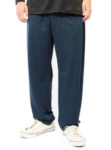 【新品】 5L ネイビー ジャージ パンツ メンズ 大きいサイズ 吸汗速乾 ドライ メッシュ UVカット 無地 ロング ドライパンツ