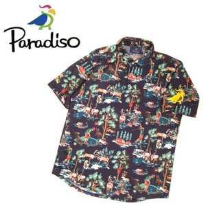 着用少 極美 宮里藍愛用ブランド 近年新作 Paradiso 吸水速乾 ストレッチ 半袖ポロシャツ パラディーゾ ブリヂストン ゴルフウェア 2108332