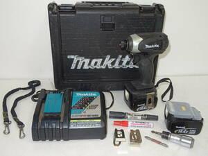 54M 【中古品】 makita マキタ充電式インパクトドライバー 本体TD134DX2 純正バッテリーBL1430×2 充電器DC18RC ケース 電動工具 DIY