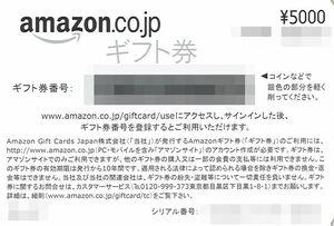 日本アジアグループ 株主優待 アマゾン ギフト券 5000円 1枚 コード通知 送料無料 ※期限:2031年6月1日 amazon アマギフ 新品 未使用