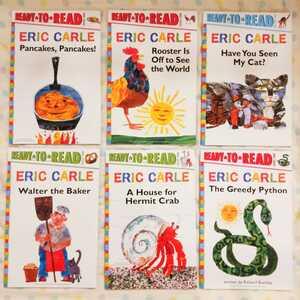 【新品】エリックカール 英語絵本 リーディングブック 6冊セット