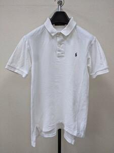 ラルフローレン ワンポイント入り 半袖ポロシャツ メンズ M 白紺 502
