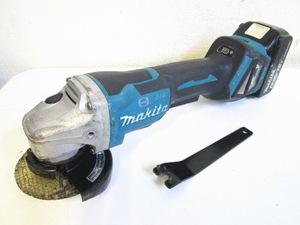makita マキタ 100mm 充電式ディスクグラインダ GA418D 本体+バッテリ(BL1860B)セット 18V 6.0Ah 研磨 研削 切断 電動工具