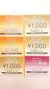西武 株主優待 共通割引券3000円分