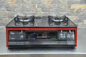 ♪♪h023 Paloma パロマ ガステーブル PA-91WCR-R 2013年製 都市ガス ガスコンロ ハイパーガラスコート 家庭用 動作確認済み♪♪♪