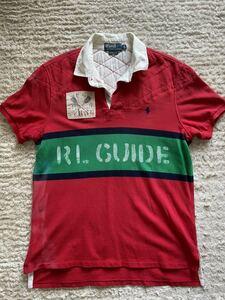 ラルフローレンポロシャツPOLO RALPH LAUREN ラルフローレンRALPH LAURENビッグポニー赤緑レッドグリーンビンテージC1メンズ半袖ポロシャツ