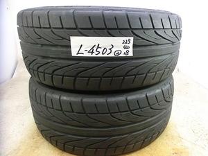 L-4503 溝あり 中古タイヤ ダンロップ DIREZZA DZ101 225/40R18 88W (2本)