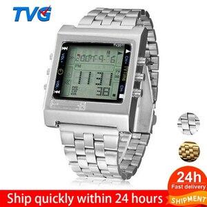 ファッション腕時計 レトロデジタル腕時計 メンズ腕時計 044