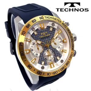 【送料無料 高級セーム付き】新品正規[テクノス]TECHNOSメンズ腕時計クロノグラフキャンプ保証書専用BOX付きジャパンムーブ日本製ゴールド