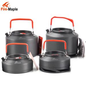 アルミポータブルコーヒーポットケトル メープル調理器具 キャンプ 水やかん メッシュバッグ ティーポット 旅行