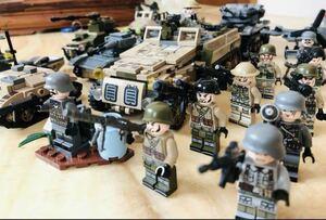 翌日発送 第二次世界大戦 武器つきセット 戦争軍人軍隊マンミニフィグ LEGO 互換 ブロック ミニフィギュア レゴ 互換 1061pcs