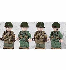 翌日発送 4体セット アメリカ軍 軍人 第二次世界大戦 ブロック ミニフィグ レゴ LEGO 互換 ミニフィギュア j