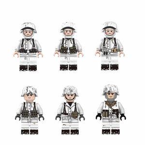 ドイツ  6体 軍人 兵士 ミニフィグ LEGO 互換 ブロック ミニフィギュア レゴ 互換 q