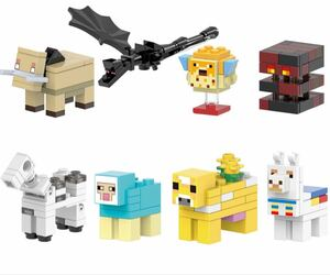 翌日発送 8体セット マインクラフト ブロック ミニフィグ レゴ LEGO 互換 ミニフィギュア w