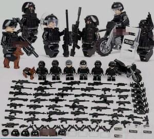 警察6体 バイク武器つきセット 戦争軍人軍隊マンミニフィグ LEGO 互換 ブロック ミニフィギュア レゴ 互換t27