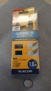 ELECOM USB2,0 mini-Bケーブル1,0m U2C-M10BK