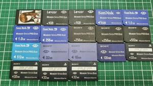 SONY SANDISK LEXAR メモリースティック 4GBなど 18枚 メモリーカード 安心!ネコポス送料無料☆
