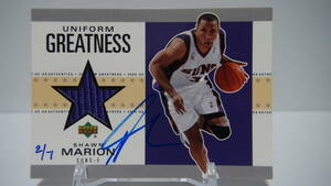 【Shawn Marion】 03-04 ULTIMATE COLLECTION BuyBacks (02-03UDAU) Auto 7枚限定 マリオン 直書き サイン