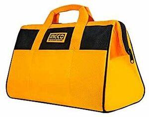 ★色:工具バッグ★ HTBG28131 ツールバッグ 多機能工具袋 ツールケース INGCO 工具バッグ ペグケース 工具入れ 大容量 防水 黄 黒
