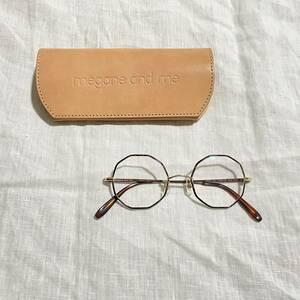 新品同様 メガネアンドミー megane and me 十角形 メガネ 眼鏡 アイウェア めがね ME007 伊達メガネ