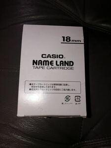 CASIO カシオネームランドテープ 白テープ 18mm 5本