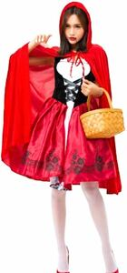 ハロウィン 大人cosplay 仮装 衣装 コスプレ コスチューム♪赤ずきん メイド服 パーティー 舞台 イベント 演出服