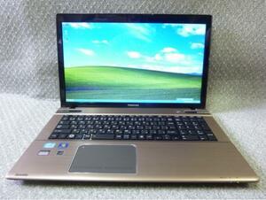 """★新品SSD120GB Win XP・10・7 OS選択可 17.3""""1600*900 東芝 dynabook T572/W3TF ★ Core i7-3610QM/4GB/Sマルチ/無線/カメラ/office/1394"""