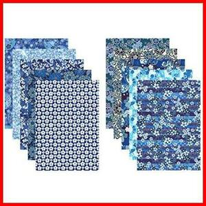 【Amazon.co.jp 限定】和紙かわ澄 特撰 藍染風 手染め 千代紙 友禅和紙 B4判 25.7×36.4cm 10柄入